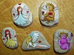 Painting on rocks - andílci (andilci.jpg)
